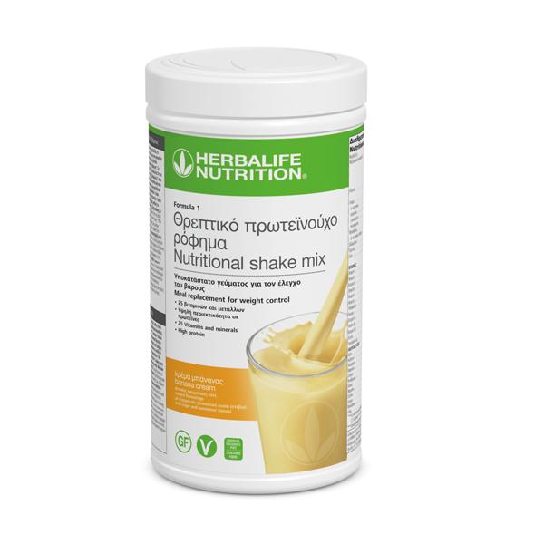Θρεπτικό Πρωτεϊνούχο Ρόφημα Formula 1 - Γεύση Κρέμα Μπανάνας 550γρ