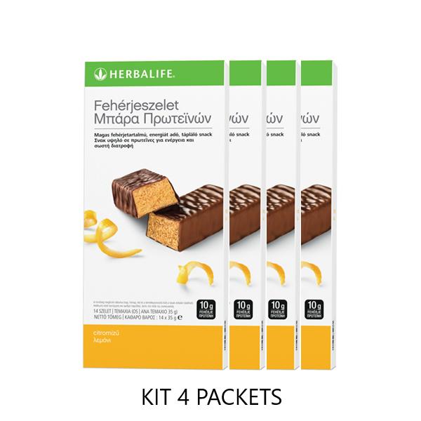 Protein Bars Citrus Lemon - 4 pack΄s kit - 14 bars per box